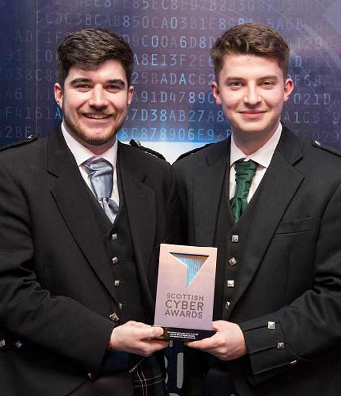 Double success at Scottish Cyber Awards