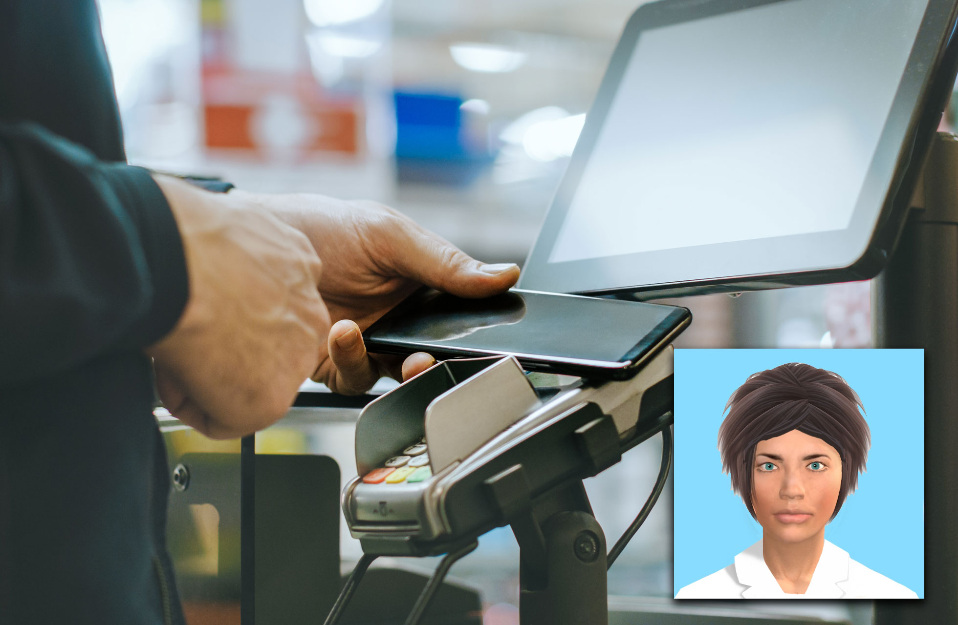 Digitised faces may reduce shoplifting risk at self-service checkouts