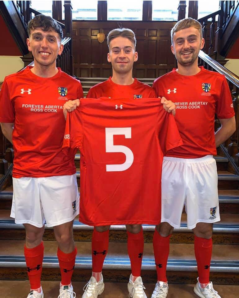 Abertay men's football captain wins award named after late best friend